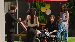 Aaron Brennan, Mishti Sharma, Shane Rebecchi, Dipi Rebecchi in Neighbours Episode 7630