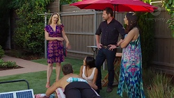 Chantelle Pennington, Shane Rebecchi, Dipi Rebecchi, Aaron Brennan, Mishti Sharma in Neighbours Episode 7630