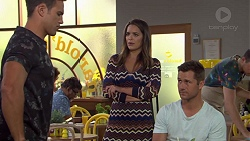 Aaron Brennan, Paige Novak, Mark Brennan in Neighbours Episode 7631