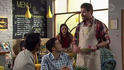Tom Quill, David Tanaka, Mishti Sharma, Shane Rebecchi in Neighbours Episode 7633