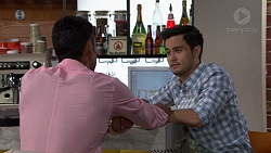 Tom Quill, David Tanaka in Neighbours Episode 7633