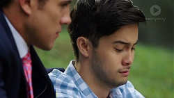 Aaron Brennan, David Tanaka in Neighbours Episode 7633