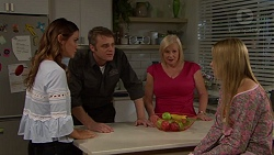 Elly Conway, Gary Canning, Sheila Canning, Xanthe Canning in Neighbours Episode 7634