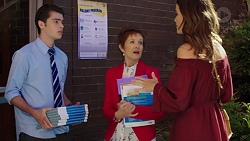 Ben Kirk, Susan Kennedy, Elly Conway in Neighbours Episode 7634