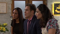 Mishti Sharma, Aaron Brennan, Dipi Rebecchi in Neighbours Episode 7634