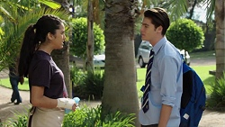 Yashvi Rebecchi, Ben Kirk in Neighbours Episode 7635