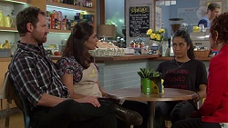 Shane Rebecchi, Dipi Rebecchi, Yashvi Rebecchi, Susan Kennedy in Neighbours Episode 7635