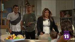 Jack Callaghan, Tyler Brennan, Terese Willis, Gabriel Smith, Paige Novak in Neighbours Episode 7636