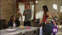 Terese Willis, Piper Willis, Tyler Brennan, Paige Novak in Neighbours Episode 7636