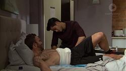 Mannix Foster, David Tanaka in Neighbours Episode 7637