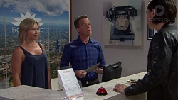 Steph Scully, Paul Robinson, Leo Tanaka in Neighbours Episode 7637