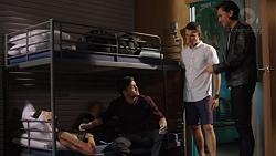 Mannix Foster, David Tanaka, Jack Callaghan, Leo Tanaka in Neighbours Episode 7637