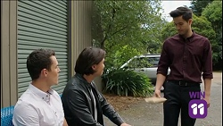 Jack Callaghan, Leo Tanaka, David Tanaka in Neighbours Episode 7638