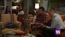 Mishti Sharma, Dipi Rebecchi, Shane Rebecchi, Karl Kennedy in Neighbours Episode 7641