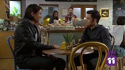 Leo Tanaka, Dipi Rebecchi, Shane Rebecchi, David Tanaka in Neighbours Episode 7641