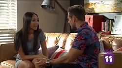 Mishti Sharma, Aaron Brennan in Neighbours Episode 7641