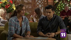 Amy Williams, David Tanaka in Neighbours Episode 7641