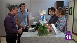 Paul Robinson, Leo Tanaka, David Tanaka, Amy Williams in Neighbours Episode 7641