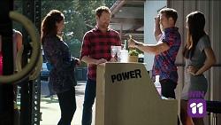Dipi Rebecchi, Shane Rebecchi, Aaron Brennan, Mishti Sharma in Neighbours Episode 7641