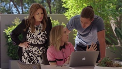 Terese Willis, Piper Willis, Tyler Brennan in Neighbours Episode 7643