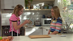 Piper Willis, Xanthe Canning in Neighbours Episode 7643