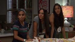 Kirsha Rebecchi, Mishti Sharma, Yashvi Rebecchi in Neighbours Episode 7643