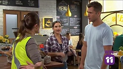 Sonya Mitchell, Amy Williams, Mark Brennan in Neighbours Episode 7644