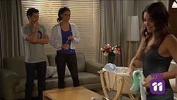 David Tanaka, Elly Conway, Paige Novak in Neighbours Episode 7644