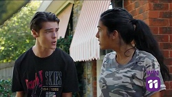 Ben Kirk, Yashvi Rebecchi in Neighbours Episode 7644
