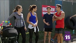 Paige Novak, Elly Conway, David Tanaka, Aaron Brennan in Neighbours Episode 7644