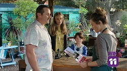 Toadie Rebecchi, Willow Bliss, Nell Rebecchi, Sonya Mitchell in Neighbours Episode 7644