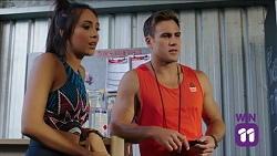 Mishti Sharma, Aaron Brennan in Neighbours Episode 7645