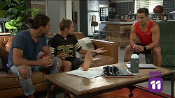 Tyler Brennan, Piper Willis, Aaron Brennan in Neighbours Episode 7645