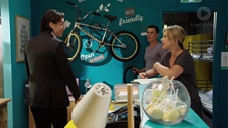 Leo Tanaka, Jack Callaghan, Steph Scully in Neighbours Episode 7646