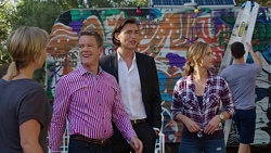 Steph Scully, Paul Robinson, Leo Tanaka, Amy Williams in Neighbours Episode 7646