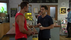 Aaron Brennan, David Tanaka in Neighbours Episode 7646