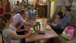 Amy Williams, Toadie Rebecchi, Willow Bliss, Nell Rebecchi, Sonya Mitchell in Neighbours Episode 7648