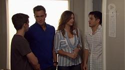 Jimmy Williams, Aaron Brennan, Amy Williams, David Tanaka in Neighbours Episode 7650