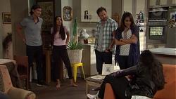 Leo Tanaka, Mishti Sharma, Shane Rebecchi, Dipi Rebecchi, Yashvi Rebecchi in Neighbours Episode 7650