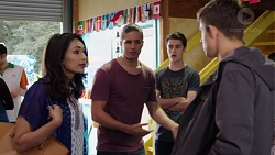 Dipi Rebecchi, Tyler Brennan, Ben Kirk, Evan Lewis in Neighbours Episode 7650