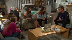 Piper Willis, Xanthe Canning, Paige Smith, Elly Conway, Mark Brennan in Neighbours Episode 7651