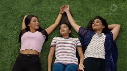 Mishti Sharma, Kirsha Rebecchi, Dipi Rebecchi in Neighbours Episode 7651