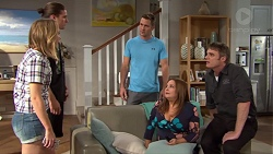 Piper Willis, Tyler Brennan, Mark Brennan, Terese Willis, Gary Canning in Neighbours Episode 7652