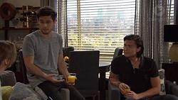 Amy Williams, David Tanaka, Leo Tanaka in Neighbours Episode 7654
