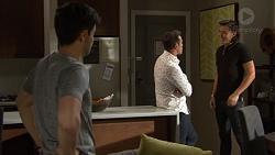 David Tanaka, Aaron Brennan, Leo Tanaka in Neighbours Episode 7654
