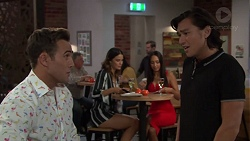 Aaron Brennan, Elly Conway, Mishti Sharma, Leo Tanaka in Neighbours Episode 7654