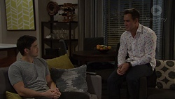 David Tanaka, Aaron Brennan in Neighbours Episode 7654