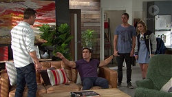 Mark Brennan, Aaron Brennan, Tyler Brennan, Piper Willis in Neighbours Episode 7655