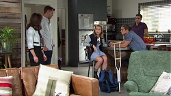 Fay Brennan, Mark Brennan, Piper Willis, Tyler Brennan, Aaron Brennan in Neighbours Episode 7655