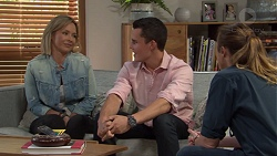Steph Scully, Jack Callaghan, Sonya Mitchell in Neighbours Episode 7655